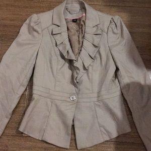 WHBM one button khaki blazer size 2